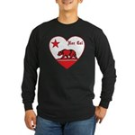 love nor cal bear red Long Sleeve T-Shirt
