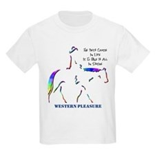 Western Pleasure Image Kids T-Shirt