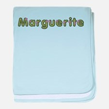 Marguerite Spring Green baby blanket