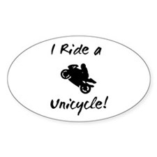 Motorcycles Oval Decal
