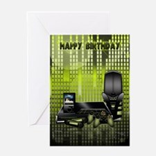 Gadget Lover's Birthday Greeting Card With Technol