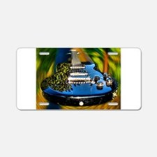 Rocked Out Guitar Aluminum License Plate