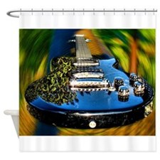 Rocked Out Guitar Shower Curtain