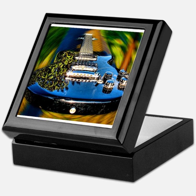 Rocked Out Guitar Keepsake Box