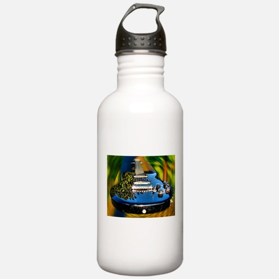Rocked Out Guitar Water Bottle