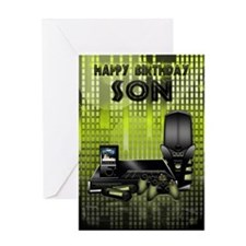 Son Birthday Greeting Card With Games Console