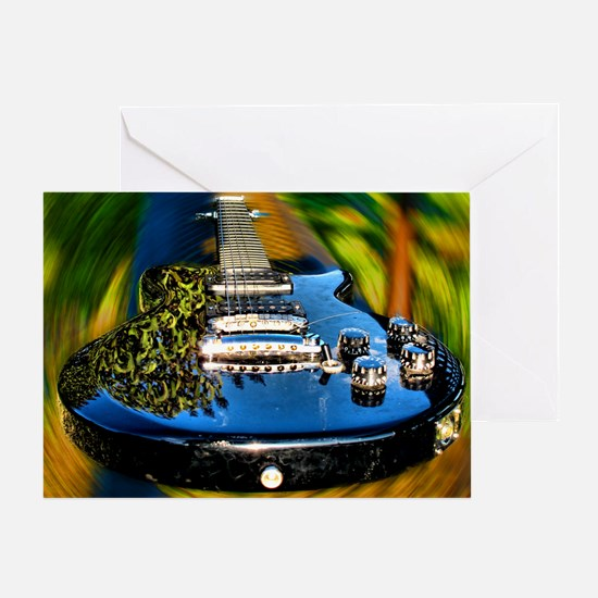 Rocked Out Guitar Greeting Card