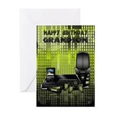 Grandson Technology Came Console Birthday Card