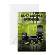 Godson Birthday Greeting Card With Games Console