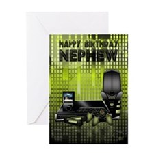 Nephew Birthday Card With Games Console And Gadget