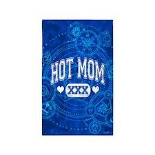 Hot Mom Blue 3'x5' Area Rug