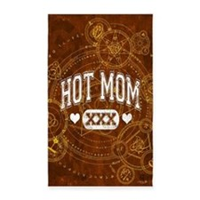 Hot Mom Brown 3'x5' Area Rug
