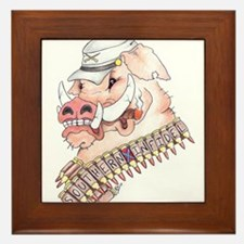 OINK Y'ALL Framed Tile