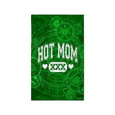Hot Mom Green 3'x5' Area Rug
