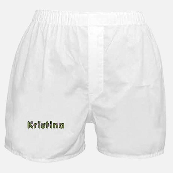 Kristina Spring Green Boxer Shorts