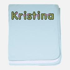 Kristina Spring Green baby blanket