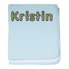 Kristin Spring Green baby blanket