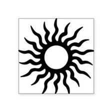 Tribal Sun Icon Sticker