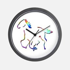 Wild Mustangs Wall Clock