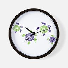 Autism Awareness Turtle Wall Clock