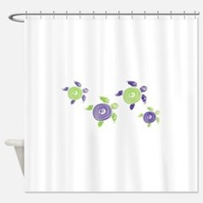 Autism Awareness Turtle Shower Curtain
