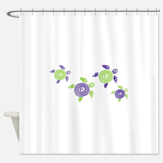 Autism Awareness Turtle Shower Curtain