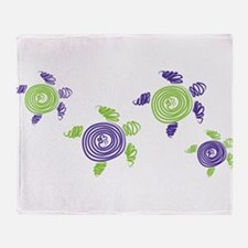 Autism Awareness Turtle Throw Blanket