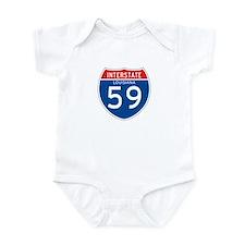 Interstate 59 - LA Infant Bodysuit