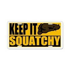 Keep it Squatchy Aluminum License Plate