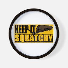 Keep it Squatchy Wall Clock