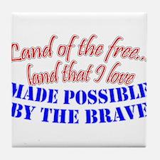 Land I Love Tile Coaster