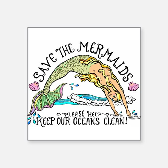 Save the Mermaid Sticker