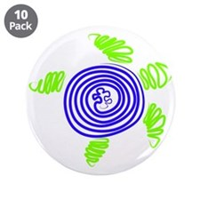"""Cute Autism awareness 3.5"""" Button (10 pack)"""