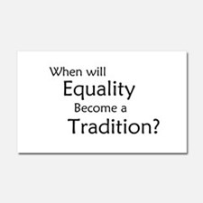 Traditional Equality Car Magnet 20 x 12