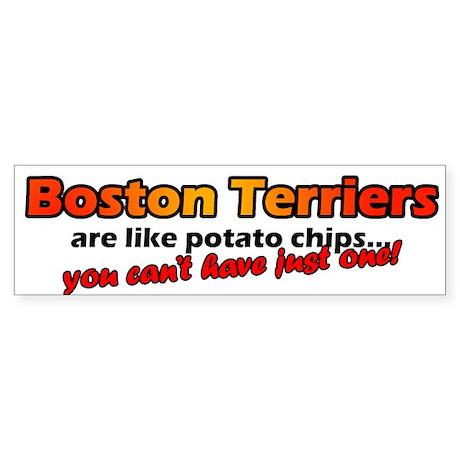 Boston Terrier Potato Chips Bumper Sticker