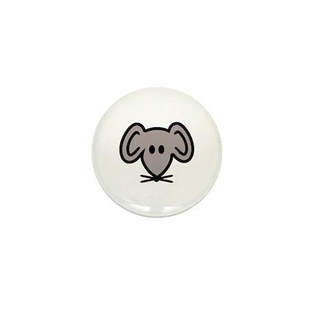 Mouse head face Mini Button (100 pack)