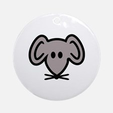 Mouse head face Ornament (Round)