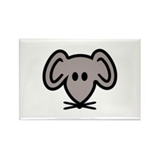 Mouse head face Rectangle Magnet