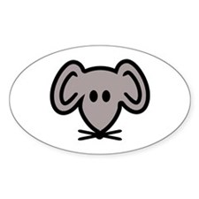 Mouse head face Decal