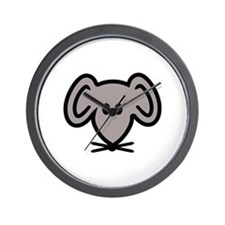 Mouse head face Wall Clock