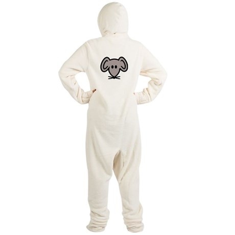 Mouse head face Footed Pajamas