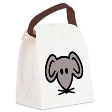 Mouse head face Canvas Lunch Bag