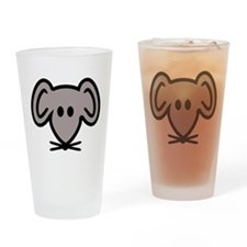 Mouse head face Drinking Glass