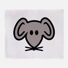 Mouse head face Throw Blanket