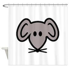 Mouse head face Shower Curtain