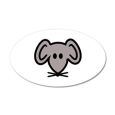Mouse head face Wall Decal