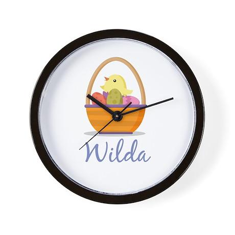Easter Basket Wilda Wall Clock