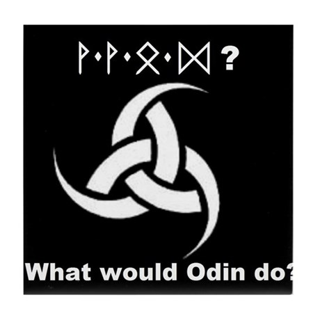 What would Odin do? Tile Coaster