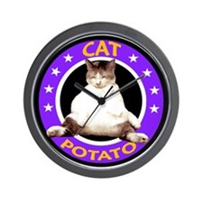 CAT POTATO Wall Clock