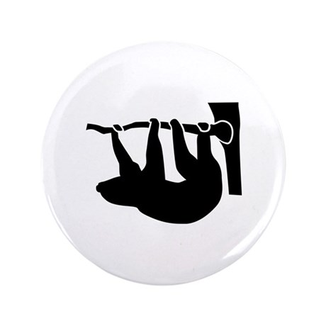"""Sloth 3.5"""" Button (100 pack)"""